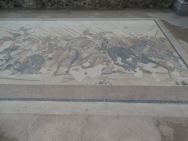 Haus des Faun - Mosaik, das den Sieg von Alexander d. Großen über den Perserkönig Darius