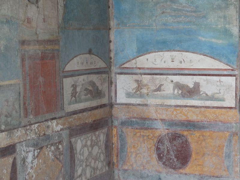 Wandmalereien - Jagdszenen aus dem Alten Jagdhaus