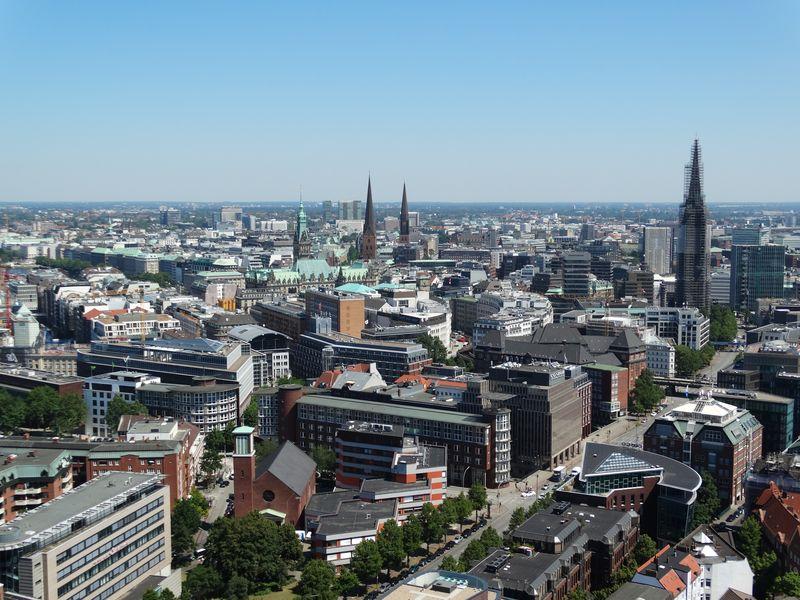 Blick über die Neustadt zur Altstadt