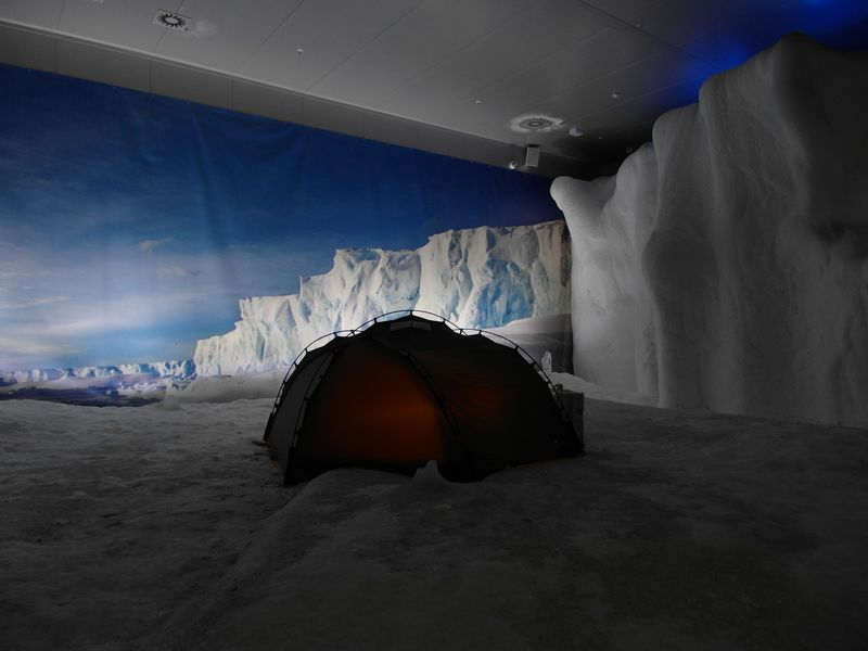 Es war bitterkalt in der Antarktis.