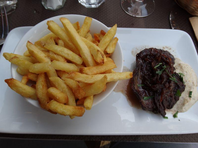 Steak l'échalote frites