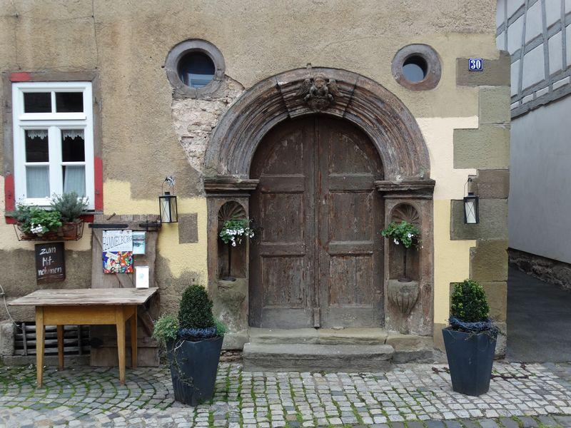 Portal des Rineckerhaus (eines der ältesten Häuser Hammelburgs)