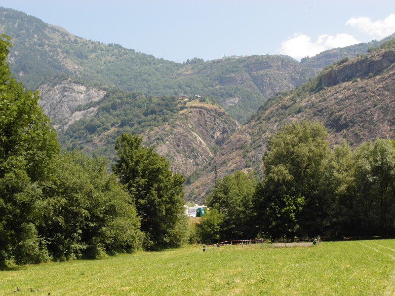 Blick zum Aufstieg nach Alpe d'Huez