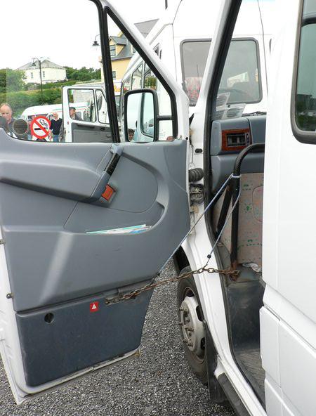Unser Bus mit Sturmerfahrung