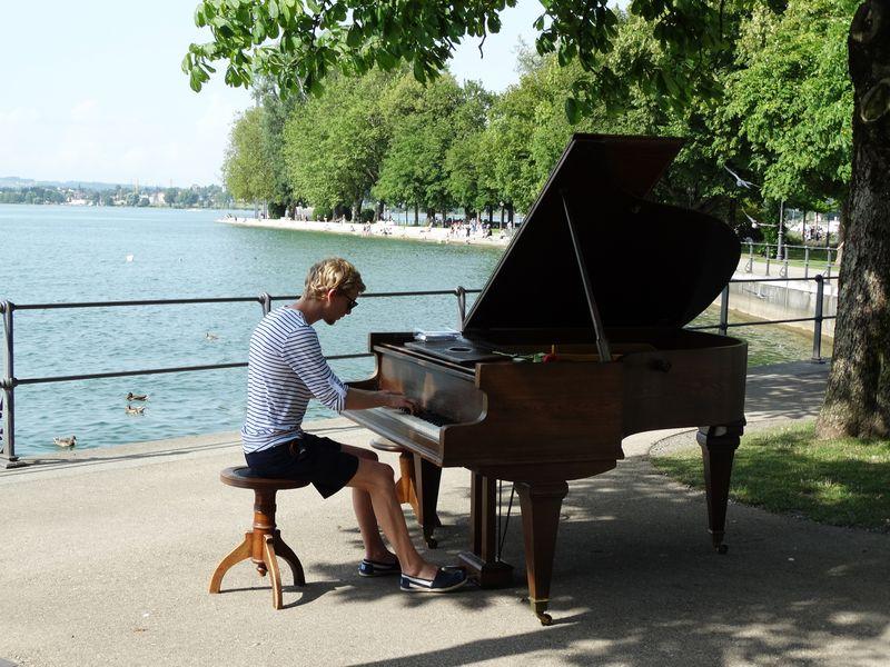 musikalisches Intermezzo an der Promenade