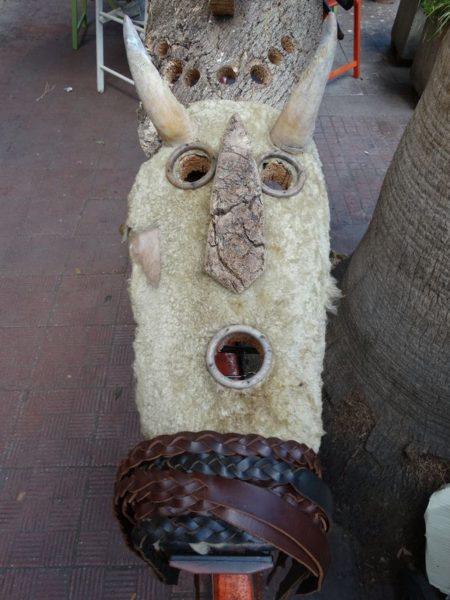 sardische Holzmaske