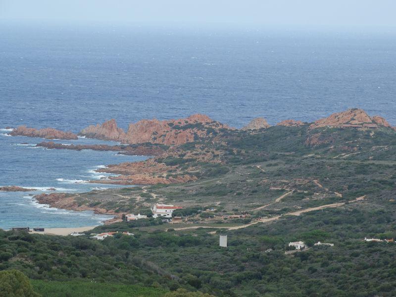 """Blick zur Küste """"Isola Rossa"""""""